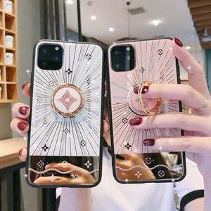 cas concepteur de marque de luxe téléphone iphone 11Pro 11 xsmax xs 8plus 8 7plus en verre trempé Couverture