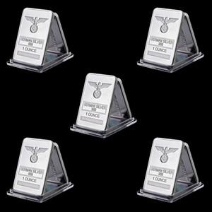 5pcs Rare 1 onza de plata alemana 999 Libertad tótem de Eagle plateado plata de la barra cruzada con el acrílico Protección Cápsulas