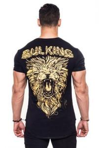 벌킹 브랜드 남성 체육관 티셔츠 스키니 탄성 보디 빌딩 운동 셔츠 남성 캐주얼 티는 브랜드 의류를 꼭대기