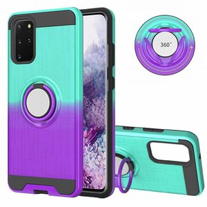 Fashion Gradient Colors 360 Ring Rotating Car Holder Phone Case for Samsung Galaxy S20 PLUS S20 Ultra A51 A71