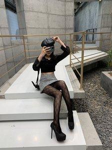 Luxus Strumpfhosen Alphabet dünner Paris Luxus Brief Silk Strümpfe Großhandel Nein, nach der Party heißen Bohrgeräts Art und Weise sexy Strumpfhosen alle geschnittenen Strümpfe