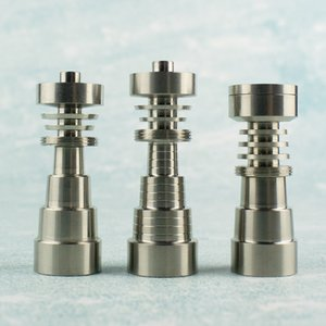 Erkek ve Bayan Eklemler 10mm / 14mm ve 18mm için Mulyifuntional Sınıf Titanyum DabWorthy Altı Delik Bulaşık Süper Evrensel Tırnak