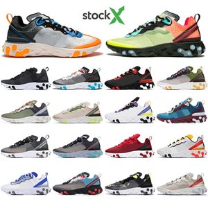 2020 Chaussure best mens trainers React Element 87 55 Undercover X Upcoming designer grey royal red sports shoes men women sneaker shoes