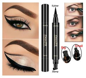 Cmaadu Wing Eyeliner Stamp أسود مقاوم للماء Smudgeproof مجنح السائل العين اينر القلم عيون طويلة الأمد ماكياج