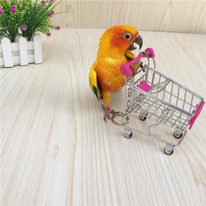 Commercio all'ingrosso di giocattoli criceto mini carrello di acquisto di simulazione uccello pappagallo piccolo supermercato carrello della spesa Utility Vehicle casa gioco di finzione giocattolo TR