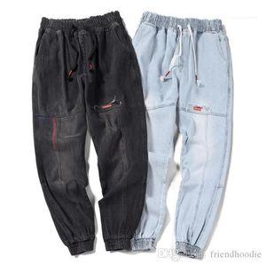 Hiphop Жан Pantalones Chic Мужчины подросток Гарем джинсы весна вскользь Jogger Брюки Сыпучие Плюс Размер