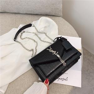 Las mujeres de lujo de los bolsos del bolso de hombro inclinado portable Joker cadena bolso único cocodrilo cruz - pequeño cuerpo