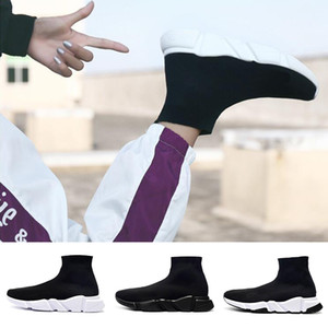 Balenciaga Sock shoes Luxury Brand Designer shoes Sapatos Casuais Homens Mulheres sola Macia Moda Corredor de Esportes Botas de Caminhada Designer de Sapatilhas de Eur 36-47