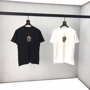 Новый 2020 O-образным вырезом Мужские футболки черный белый мода лето мужчины футболки лето хлопок тройники скейтборд хип-хоп уличная одежда Футболки top3