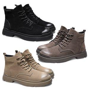 2020 새로운 서양 겨울 남성 마틴 부츠 가죽 따뜻한 신발 오토바이 남성 앵클 부츠 닥 마틴 커플 옥스포드 신발 39-44 수제 브랜드
