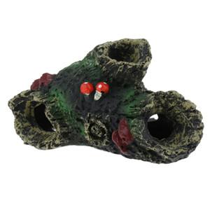 Resina de árvore Vivarium Reptile Decoração Aquarium Fish Tank ornamento do lagarto Aranha Ocultar caverna