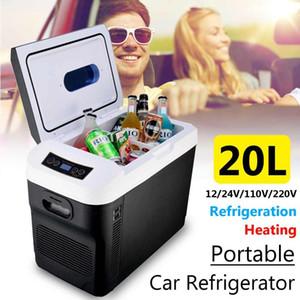Auto Frigorifero 12V 110V 24V 220V 20L Capacità portatile del dispositivo di raffreddamento termoelettrico Warmer Camion Frigo elettrico