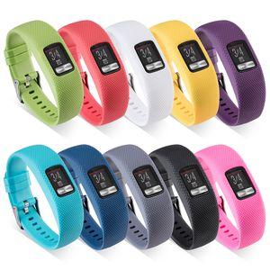 Bande di sostituzione del braccialetto della fascia del silicone la cinghia di Smart Orologio da polso con fibbia in metallo per Garmin VivoFit 4 Tracker