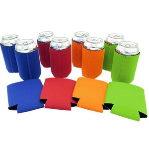New Arrival Solid Color Neoprene Foldable Stubby Holders Beer Cooler Bags For Wine Food Cans Cover Kitchen Tools Free Ship