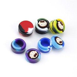 5pcs assortiti colorati 5ml Rick Morty Stash Box silicone Shatter Contenitore gomma Spice cera vaso con coperchio di Oil Slick vasetti T200507
