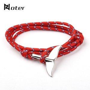 Noter 2020 Bracelete Viking Na Moda Mens 6 Cores Brasões De Corda De Guarda-Chuva Multicamadas Para Hombre Tail Easy Hook Animal Brazalete