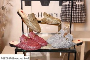 Special material 8035 Women slippers Drivers Sandals Slides Sneakers Princetown Slipper Leather Shoes