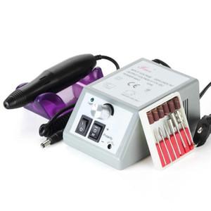 Kit del sistema de herramienta de la pluma eléctrica del taladro del clavo de la máquina profesional de Pedicure Nueva Herramientas del clavo del taladro del clavo accesorios de enchufe de US / EU