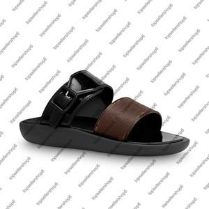 반짝 고무 슬라이드 슬리퍼 일광욕 FLAT MULE 여성 캔버스 효과 스트랩 여름 해변은 원 서명 신발 밑창 버클을 새겨