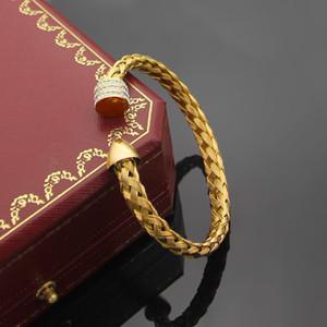 Monili delle donne AU750 oro rosa partito braccialetto delle donne braccialetto aperto da sposa d'epoca