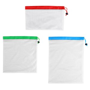 New Three colors Reusable Mesh Produce Bag Eco Friendly Bags For Grocery Shopping Fruit Vegetable Toys Storage Bags