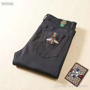 mens Trous Ripped de amincissent style coréen Elasticité Casual Pantalons en denim extensible Cool Man Pantalon jeans moto de mode de luxe