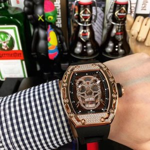 Men Watches RM052 Automatic movement Ghost head watchcase Luxury Watches Watch Sports skeleton1