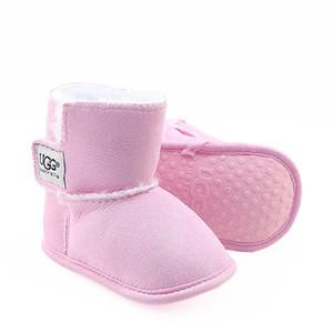 Детская обувь новорожденных мальчиков и девочек теплые ботинки снега младенческой малышей Prewalker обувь размер 11см-12см-13см