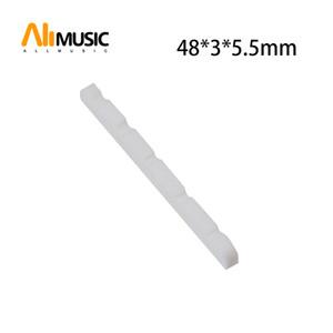 Großhandel 10 Stück 3mm geschlitzt Echt Knochen 5 String Bass Nüsse für E-Bass 48 * 3 * 5.5mm