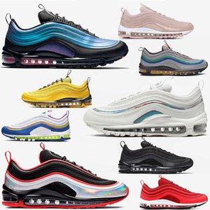 air max 97 97s airmax vapormax Chaussures de marque pour hommes pull tab chaussures de course à pied femme triple blanc blanc noir plage sud chaussures de sport