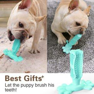 Hot Rubber Dog Chew denti di cane Spazzolino prodotti per la pulizia per animali domestici spazzolatura Stick Artefatto Pet Dog cucciolo Popolare Giocattoli