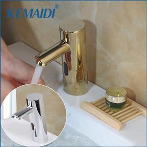 KEMAIDI التلقائي اليد إحساس اللمس الحنفية الكروم المصقول حمام حوض صنبور المغسلة Torneira خلاط صنبور المياه
