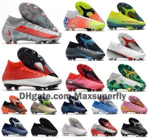 2020 Mens Mercurial Superfly VII 7 360 Elite SE FG Ragazzi Womens CR7 Ronaldo Neymar MDS 001 002 scarpe da calcio Scarpe da calcio tacchetti Dimensioni 39-4