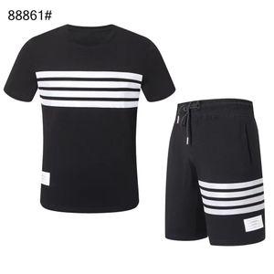 HOT new Fashion Sportswear t-shirt shorts suit 2020summer brand t-shirt men's letter printing men's short-sleeved t-shirt sports -@-1