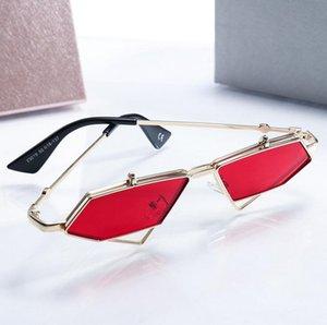 Sun Fashion SteamPunk Красный стиль Punk Up Sol Солнцезащитные очки Clamshell Cool Rock Flip Новый дизайн Уникальные очки Oculos De Iakts