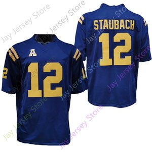 2020 NCAA NAVY 중간 멘니 유니폼 12 Roger Staubach College Football Jersey Size Youth Adult All Statched