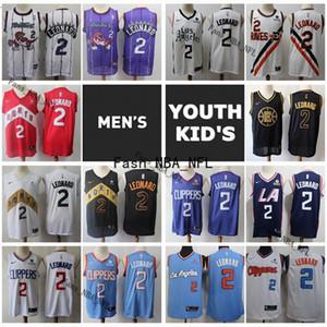 2020 Mens juventude caçoa Los AngelesClippers Kawhi Leonard Basketball Jersey costurado Retro Kawhi Leonard Torontoraptorescamisola