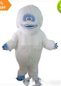 Fancytader Ücretsiz Kargo! Gerçek Resimler! Deluxe Abominable Snowman Maskot Kostüm