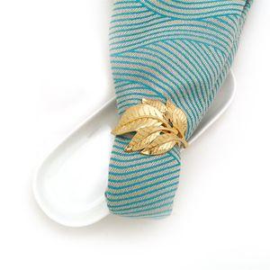 Feuilles Bouche tissu Anneaux Respectueux en alliage Serviette Couleur Or Boucle Napkins Populaire Hot vente 4 6LR J1