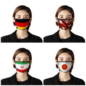 Национальный флаг печать маски для лица ушного пыла ветрозащитного Mouth Маски Зонт Респиратор Mascherine США Япония Канада 2 7BR E19