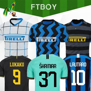 Lukaku LAUTARO ALEXIS ICARDI Inter Mailand Fußballjersey 20 21 Perišić Škriniar Godin DE VRIJ Fußballhemd 2019 2020 Uniformen der Männer + Kinder-Kit