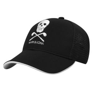 Neue hochwertige Unisex MARKLONA Sports Golf Hut Schwarzweiss-Baseballmütze Gestickte Sport Golf Cap Sportartikel