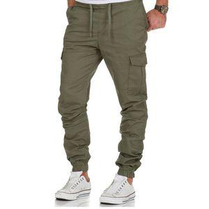 2020 Calças Casual Corredores Sweatpants Men Cotton Elastic calças compridas Homens Pantalon Homme Exército Carga Legging Clothes