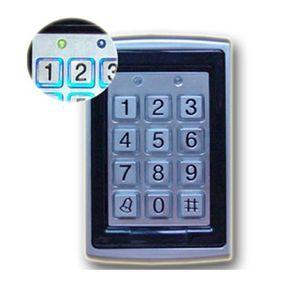 Металлический RFID-считыватель 125kHz бесконтактная клавиатура контроля доступа 7612 поддержка 1000 пользователей электрический цифровой пароль дверной замок