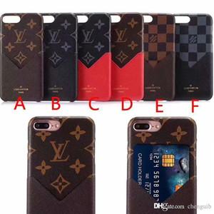 Marke gedrucktes englisches Alphabet mit Kartenschlitz Telefon-Kasten für iphone X 7 7plus 8 8plus 6 6S 6plus