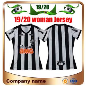 19/20 Kadın Atletico Mineiro Futbol Formaları 2019 Ev R.Oliveira V.Cara Futbol Gömlek Kız Futbol Üniforması