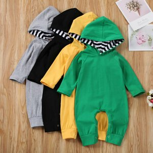 2020 Fashion Newborn Baby Infant Boy Girl Romper Hooded Jumpsuit Outfits Clothes