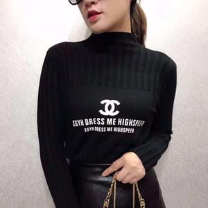 봄 2020 여성의 드레스 슬리밍 얇은 풀오버 짧은 스웨터 새로운 긴 소매 두꺼워 스웨터 위에 여자