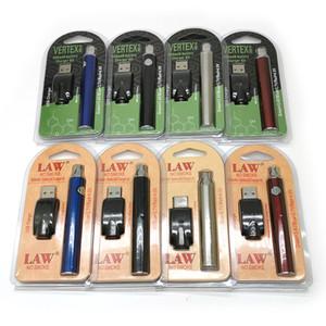 Vertex Bateria Pré-aqueça LEI bateria Kits LO VV bateria Vape Pen 510 Tópico pré-aquecimento Baterias 900mAh Cigarros eletrônicos vaporizador