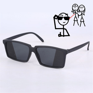 Anti-tracking vetri retrovisori vedere dietro occhiali da sole spia Shades con lo specchio sulla estremità laterali Costume Glasses for Adult